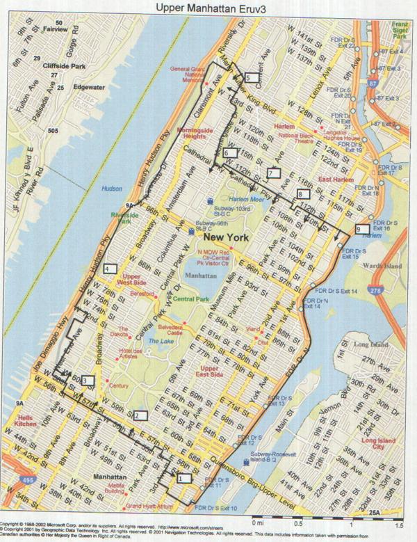 Psy Geo Provflux 2005 Manhattan Eruv Project Elliot Malkin
